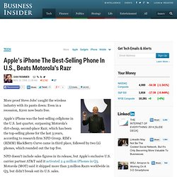 Apple's iPhone The Best-Selling Phone In U.S., Beats Motorola's Razr