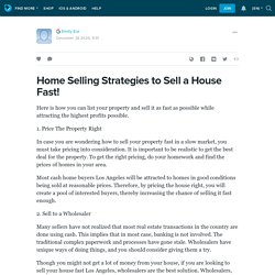 Home Selling Strategies to Sell a House Fast!: ext_5515047 — LiveJournal