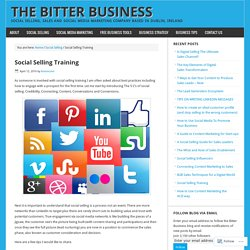 Social Selling Training – The Bitter Business