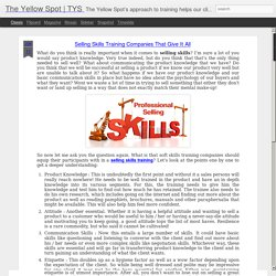 TYS : Selling Skills Training Companies That Give It All