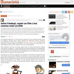 Selon l'Hadopi, copier un film c'est comme voler un DVD