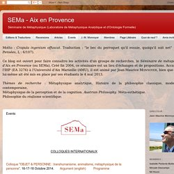 SEMa - Aix en Provence : Events