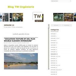 SEMAINE 13 - Blog TW-Ingénierie