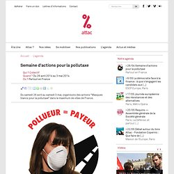 Semaine d'actions pour la pollutaxe