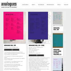 ANALOGUES, MAISON D'ÉDITION POUR L'ART CONTEMPORAIN