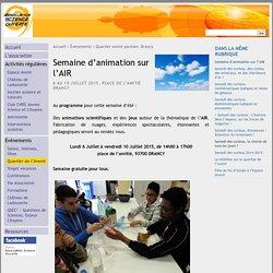 Semaine d'animation sur l'AIR - Association Science Ouverte