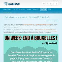 L'Open Data de la semaine : Week-end à Bruxelles !
