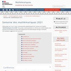 Semaine des mathématiques 2021 - Mathématiques