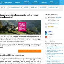Semaine du développement durable : pour tous les goûts