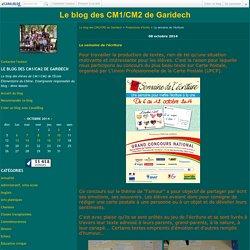 La semaine de l'écriture - Le blog des CM1/CM2 de Garidech