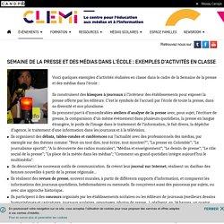 Semaine de la presse et des médias dans l'école : exemples d'activités en classe- CLEMI
