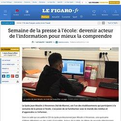 Semaine de la presse à l'école: devenir acteur de l'information pour mieux la comprendre