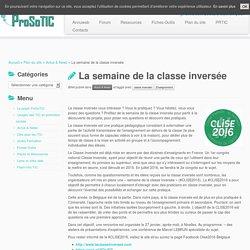 La semaine de la classe inversée – ProSoTIC