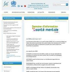 Semaine nationale d'information en santé mentale (SISM)