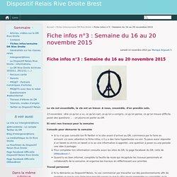 Fiche infos n°3 : Semaine du 16 au 20 novembre 2015 - Dispositif Relais Rive Droite Brest