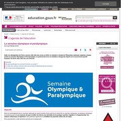 La semaine olympique et paralympique