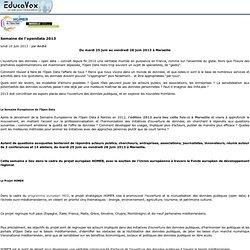 Semaine de l'opendata 2013