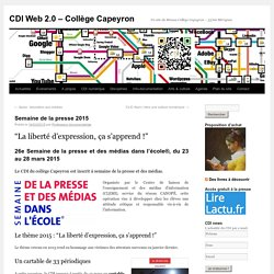 Semaine de la presse 2015