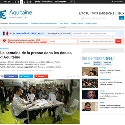 La semaine de la presse dans les écoles d'Aquitaine - France 3 Aquitaine