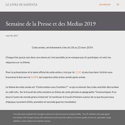 Le Livre de Sapienta: Semaine de la Presse 2017