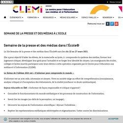 Semaine de la presse et des médias à l'Ecole- CLEMI