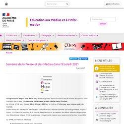 Semaine de la Presse et des Médias dans l'École® 2021 - Clemi Paris