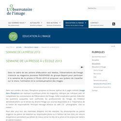 Semaine de la Presse 2013 - L'observatoire de l'image