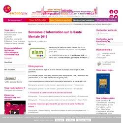 Biblios-« Santé mentale : parentalité et enfance » - Semaines d'Information sur la Santé Mentale 2018