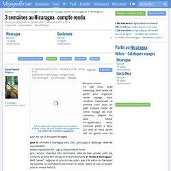 3 semaines au Nicaragua - compte rendu