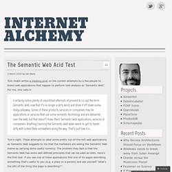 The Semantic Web Acid Test