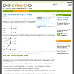 Latent Semantic Analysis (LSA) Tutorial
