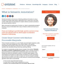Semantic Annotation - Tag Metadata in Text - Ontotext
