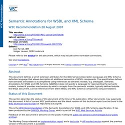 Semantic Annotations for WSDL and XML Schema