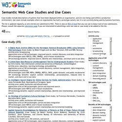 Semantic Web Case Studies and Use Cases