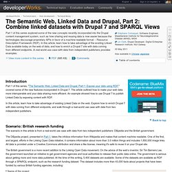 The Semantic Web, Linked Data and Drupal, Part 2: Combine linked datasets with Drupal 7 and SPARQL Views