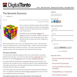 The Semantic Economy