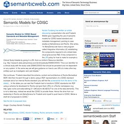 Semantic Models for CDISC