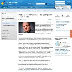 """Web 3.0: """"Semantic Web"""" – navigating in an ocean of data"""
