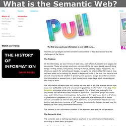 The Semantic Web & THE POWER OF PULL » Introduction