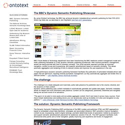 The BBC's Dynamic Semantic Publishing Showcase | Ontotext