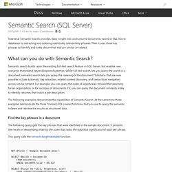 Semantic Search (SQL Server)