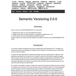 Semantic Versioning 2.0.0-rc.1
