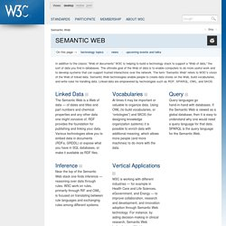 Semantic Web - W3C