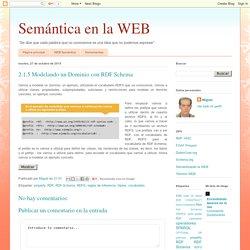 Semántica en la WEB: 2.1.5 Modelando un Dominio con RDF Schema