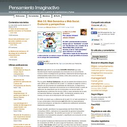 Web 3.0, Web Semántica o Web Social. Evolución y perspectivas