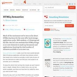 HTML5 Semantics - Smashing Coding