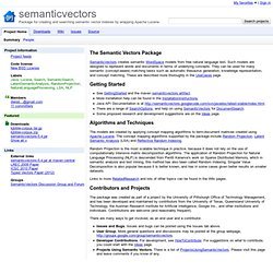 semanticvectors - Project Hosting on Google Code