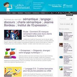 Sémantique ; Langage ; Discours ; Charte Sémantique ; Jeanne Bordeau ; Institut De L'Expression ;
