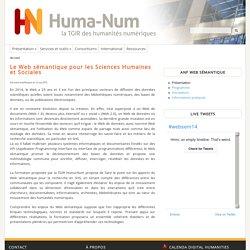 Le Web sémantique pour les Sciences Humaines et Sociales