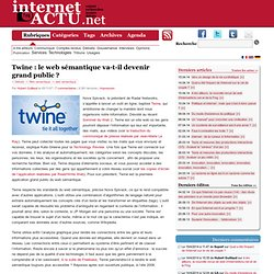 Twine : le web sémantique va-t-il devenir grand public